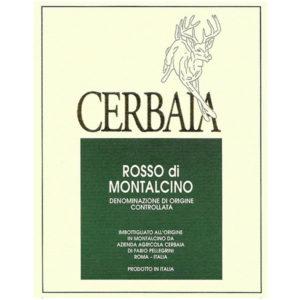 Cerbaia Rosso label