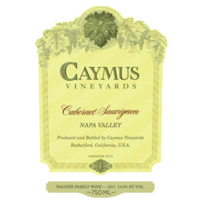 caymus cab 18 label